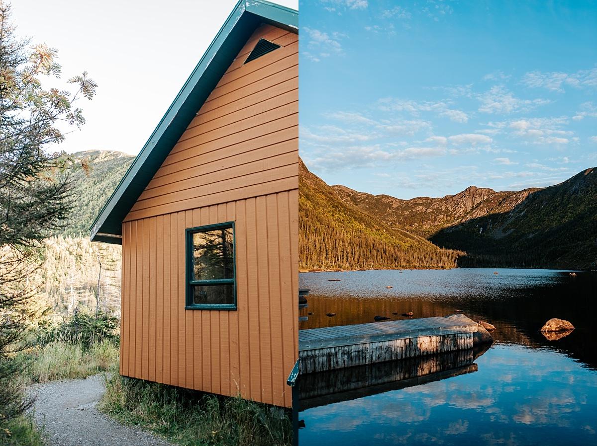 Refuge sur le bord d'une lac en plein coeur du Parc National de la Gaspésie